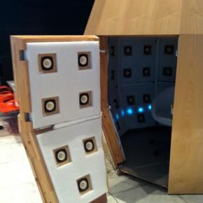 BoSCシステムの再生室「音響樽」試聴